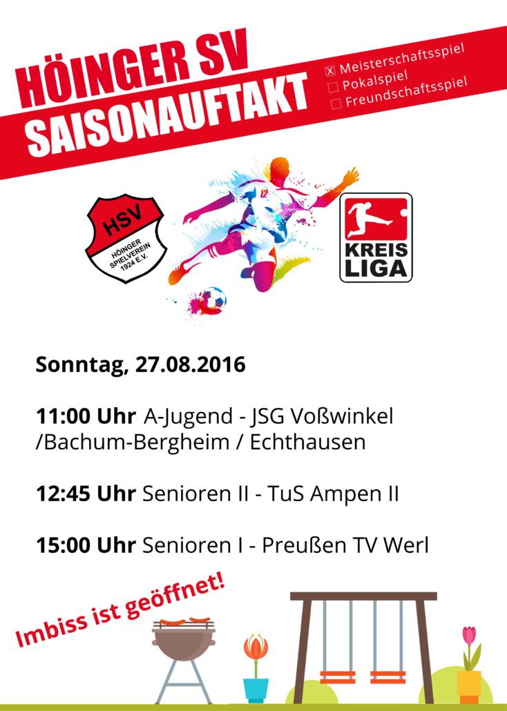 Saisonauftakt A-Kreisliga Soest 2017/18