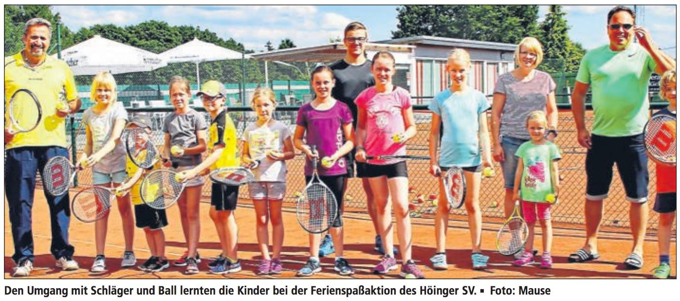 KIFF Ferienfreizeit Tennis in Ense-Höingen
