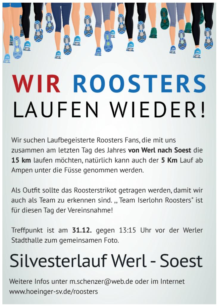 Roosters Silvesterlauf 2017 von Werl nach Soest