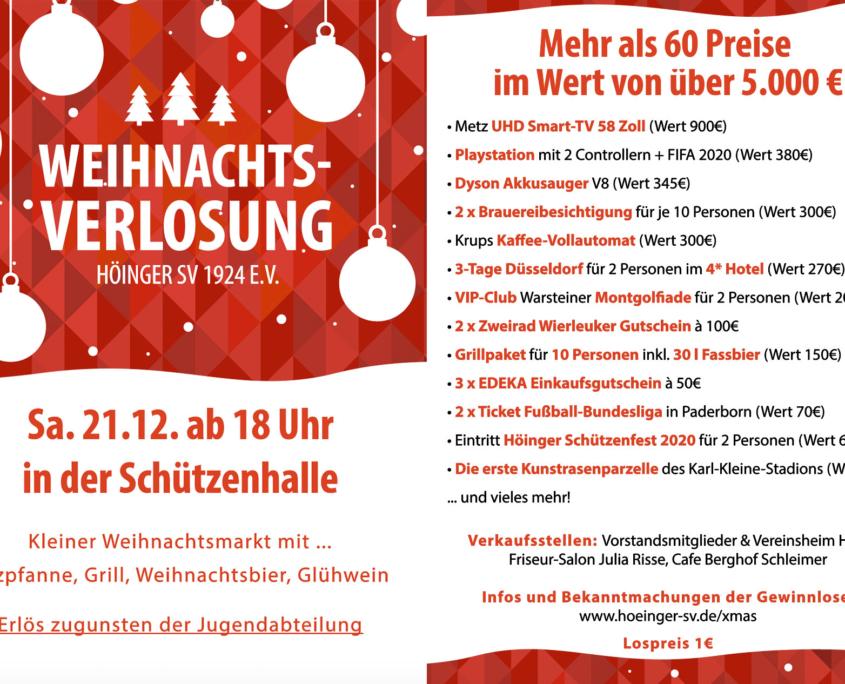 Weihnachtsverlosung Höinger SV 2019