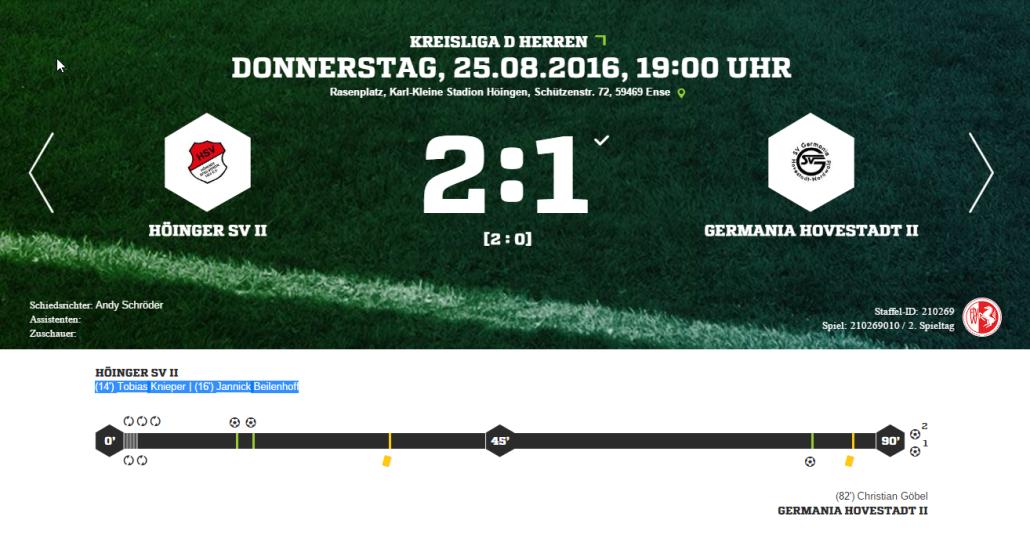 Zweite Mannschaft Höinger SV