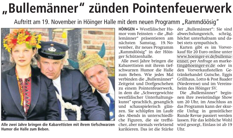 Quelle: Soester Anzeiger 12.11.2016