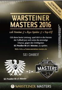 Warsteiner Masters Top 11 Gewinnspiel