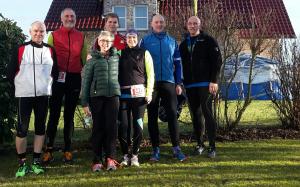 Der Höinger Lauftreff vor dem Silvesterlauf Werl nach Soest 2016
