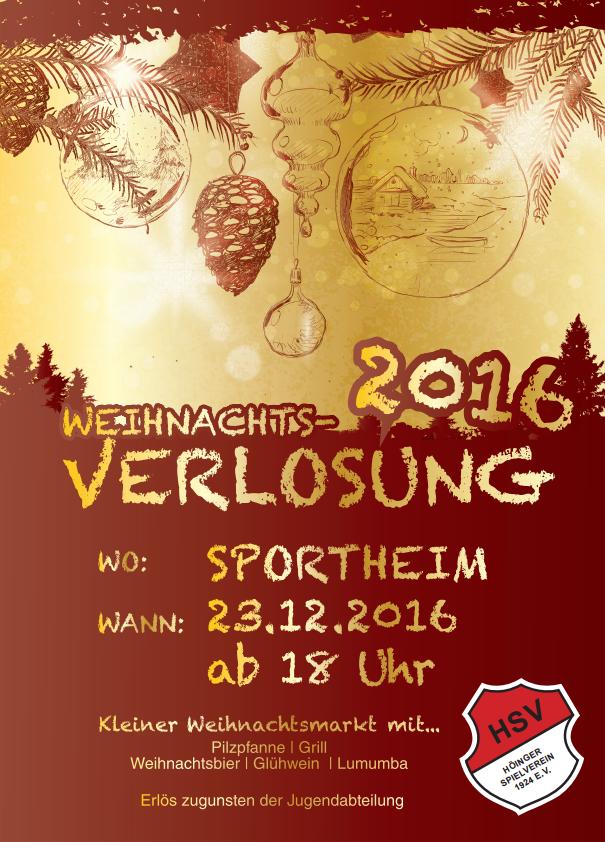 Weihnachtsverlosung Höinger SV